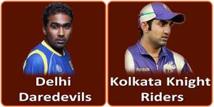 आइपीएल 6 का चौआलीसवां मैच दिल्ली डेअरडेविल्स और कोलकाता नाइट राइडर्स के बीच होना है।