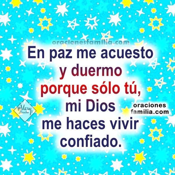 Oración corta antes de dormir en la noche, buenas noches con oraciones bonitas en imágenes cristianas por Mery Bracho.