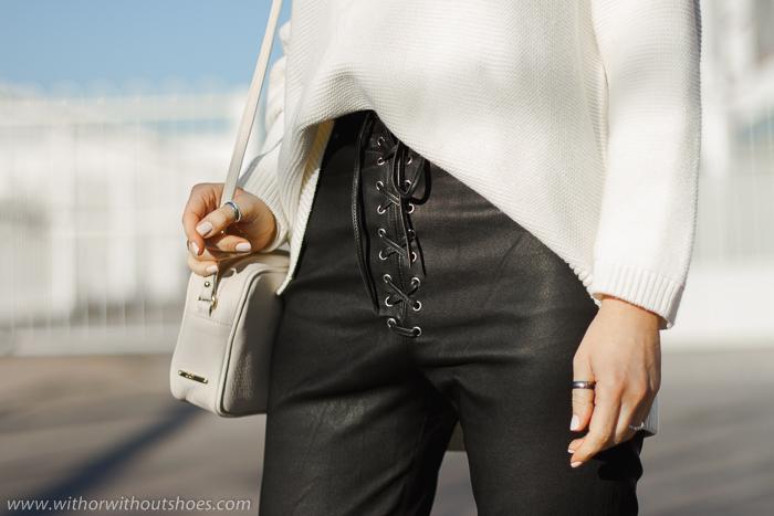 Pantalón de piel cuero negro modelo Moto Fei de LPA para Revolve Clothing