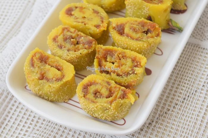 Kaju Anjeer Roll - Diwali Special Recipe - काजू अंजीर रोल मिठाई रेसिपी - Priya R - Magic of Indian Rasoi