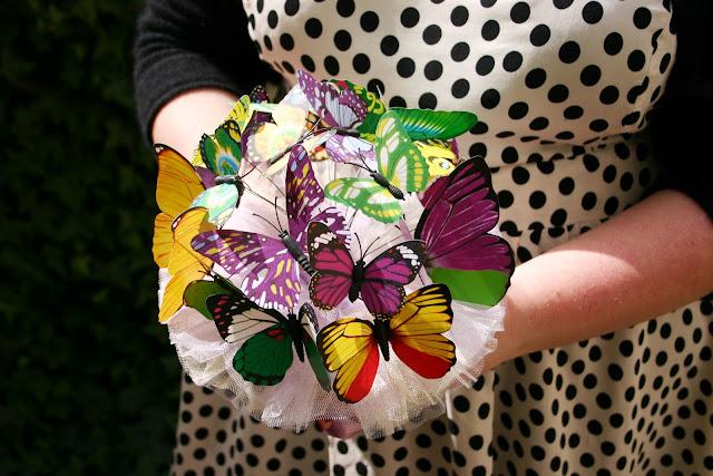Brautstrauss Schmetterlinge