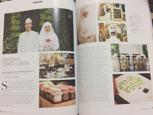 Szasa Diandra: Featured in Weddingku Magazine
