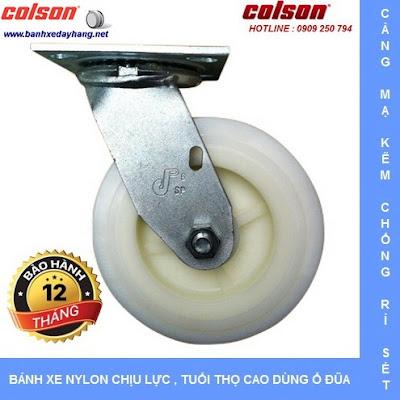 Bánh xe Nylon. bánh xe đẩy chịu tải trọng (243 - 370kg/bánh) www.banhxedayhang.net
