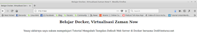 Tutorial Mengubah Tampilan Default Web Server di Docker