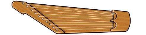 伝統的なカンテレ Kantele 10string
