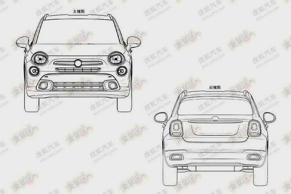 Nuova Fiat 500X: svelata dai brevetti