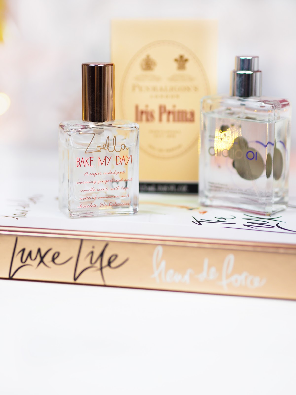 The Scent Diaries Zoella Bake My Day Penhaligon's Iris Prima Escentric Molecules Molecule 01