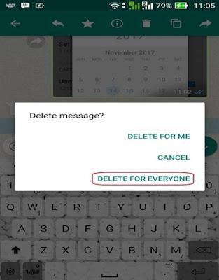 Cara Mudah Hapus Pesan WhatsApp Yang Terkirim Lebih Dari 7 Menit