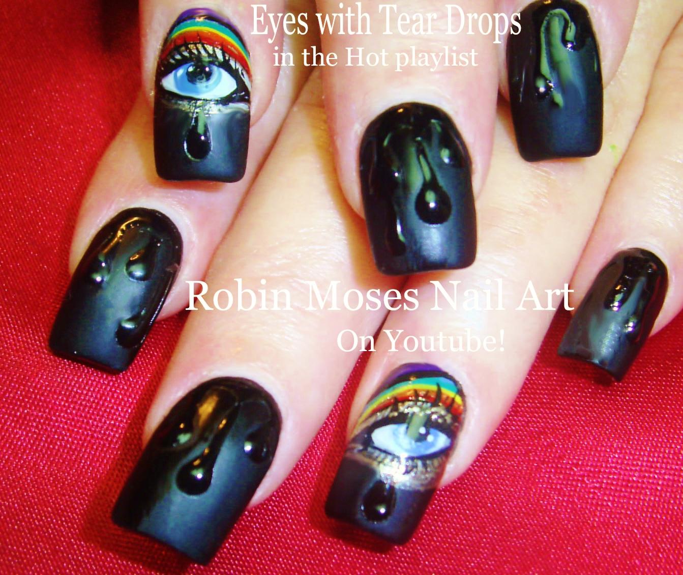 Nail Art By Robin Moses Easy Diy Water Droplets Nail Art