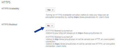 Setup HTTPS Blogger