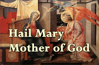 Song title superimposed on a painting of the Annunciation by Filippo Lippi  (1406–1469)  - Refrain:  Hail Mary, Mother of God! Hail Mary, servant of the Lord.  1  Daughter of God's love, highly favoured, Welcoming God's word from the angel, You gave new life to the world; The son of God, the joy of our hearts.  2 Mother of kindness, faithful virgin, Pondering deeply God's compassion, You cared for Jesus your son, The light of the world, the Lord of all.  3  Sorrowful mother, deeply grieving, Shrine of the spirit, queen of glory, You shared the joy of your son, Who rose fro the dead to life without end. 4 Mother of Christians, gate of heaven, Mother of pilgrims, help your children: Open our hearts to the love of Jesus your son, the Holy One.