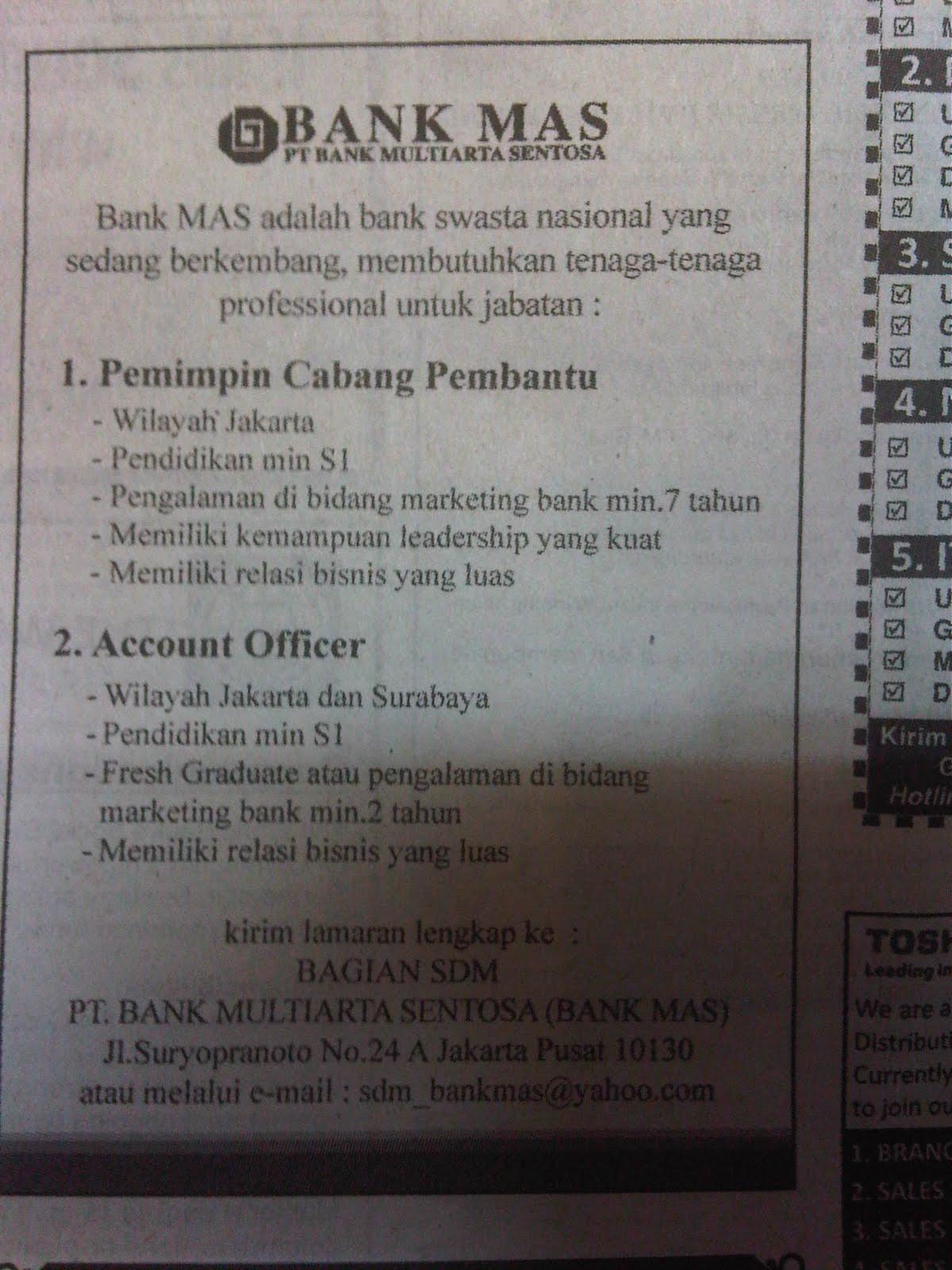 Loker Hari Ini Di Tangerang Karir Bogor Lowongan Kerja Bogor Info Loker Job Fair Lowongan Kerja Di Bank Mas Jakarta