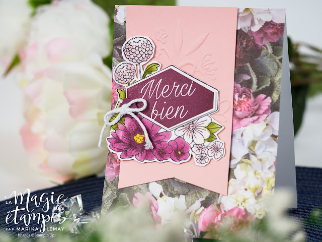 Cartes Stampin' Up! faite avec le jeu d'étampes Fleurs décorées