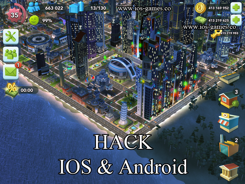 SimCity BuildIT Hack (Android / iOS)