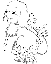 Adorable Pom Dogs Coloring Pages