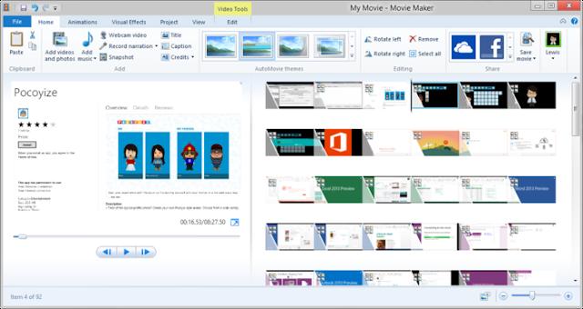 phần mềm Movie Maker 2012