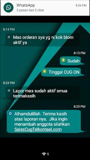 Testimoni Sales CUG Telkomsel