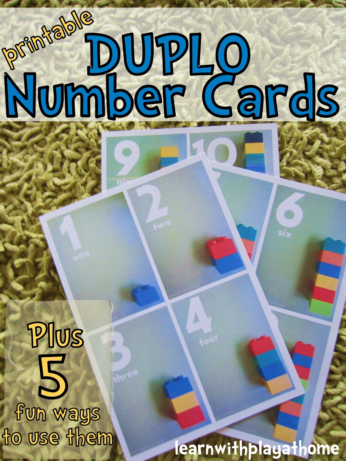 Learn With Play At Home Printable Duplo Number Cards Plus 5 Fun Ways To Use Them