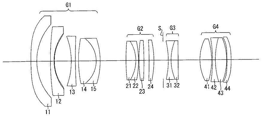 Оптическая схема объектива 11-18mm f/2.8 из нового патента Ricoh