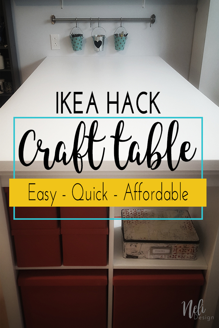 IKEA hack : Easy, Quick and affordable DIY craft table