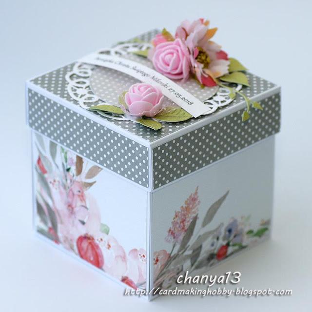 ozdobione pudełko -box