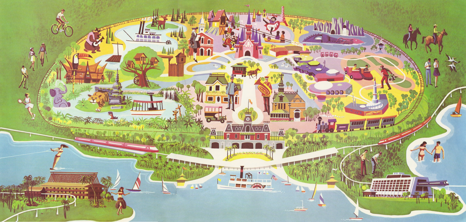 Insights And Sounds The First Walt Disney World Map