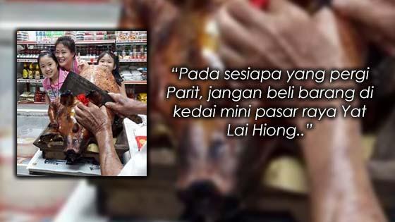 Pasar Mini di Parit, Perak Dicemari Babi Panggang