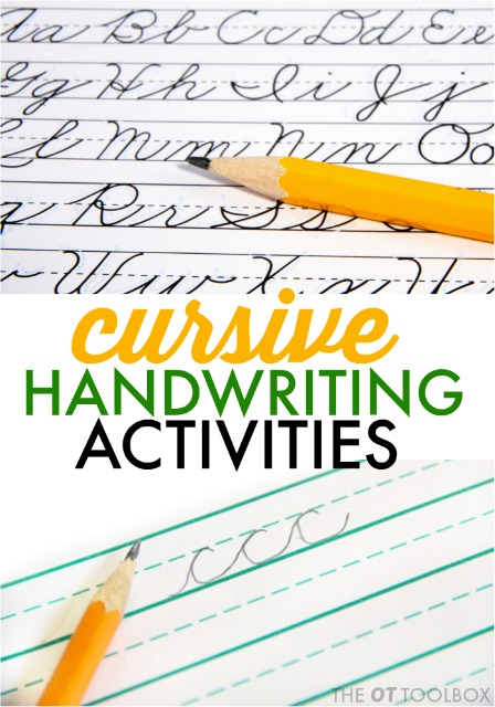 These cursive handwriting activity ideas are a fun way for kids to work on handwriting problems.