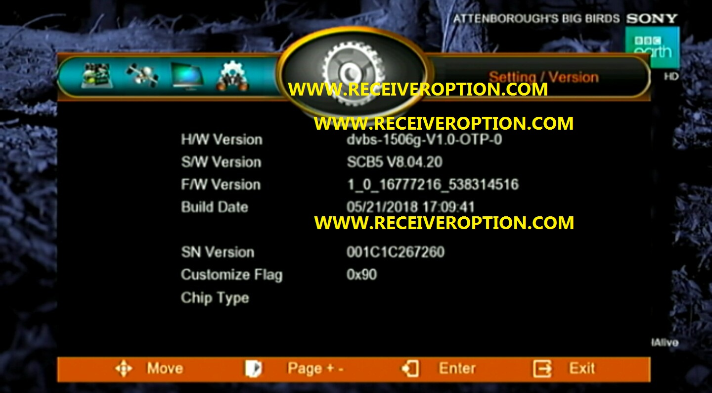GOOD NEWS 1506G NEW SOFTWARE SONY OK BY USB - HOW TO ENTER BISS KEY