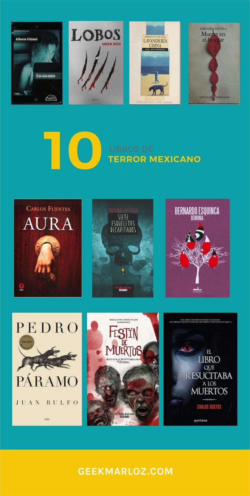 10 libros de terror mexicano que no te debes perder