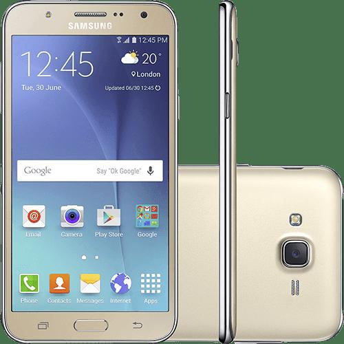 """Smartphone Samsung Galaxy J7 Duos Dual Chip Android 5.1 Tela 5.5"""" 16GB 4G Câmera 13MP - Dourado"""