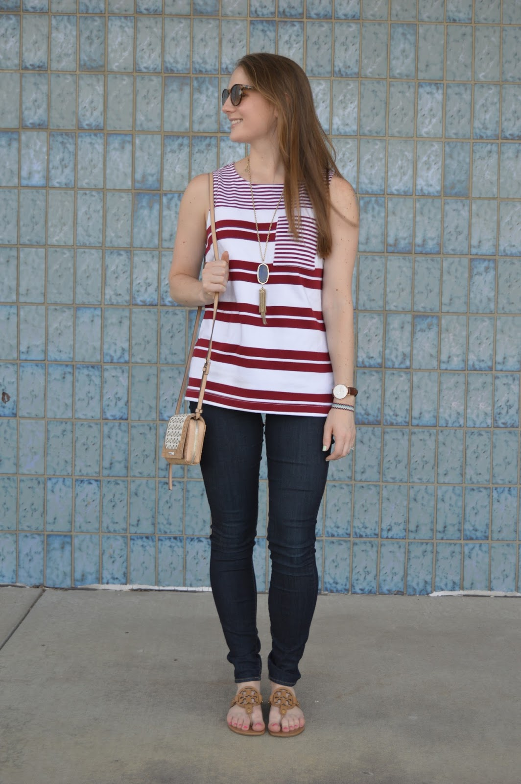 cute outfit ideas for summer | what to wear for the fourth of july | fourth of july outfit inspo | summer outfit ideas | a memory of us | red and white striped tank top |