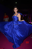 Mannara Chopra in Deep Neck Blue Gown at Zee Telugu Apsara Awards ~  Exclusive 014.jpg