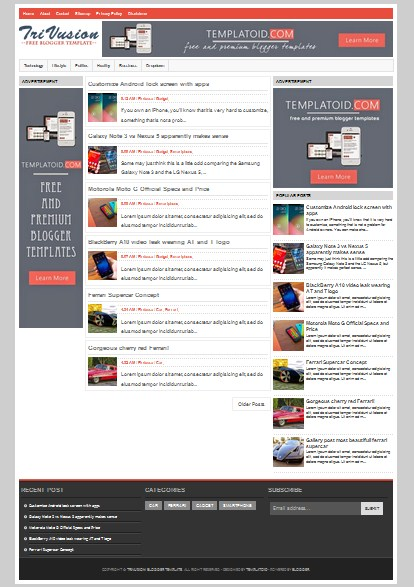 Trivusion valid html 5 seo friendly and responsive blogger trivusion super fast loading seo responsive blogger template maxwellsz