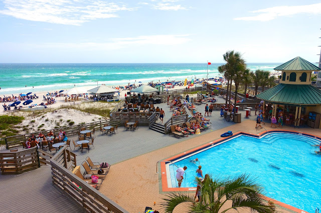 The Beach House - right next door to the Hilton Sandestin - great food and AMAZING views of the beach!