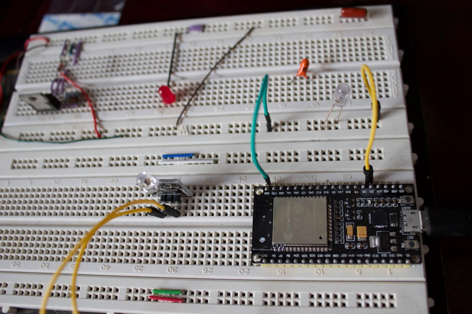 Reefwing Robotics Espressif Esp32 Tutorial Ir Remote Control Infraredtransmittercircuitlabeledonbreadboardjpg Conclusion