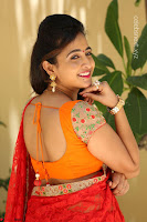 Lasya Cute Beauty in Saree Backless Choli at her Interview ~  Exclusive 229.JPG