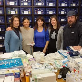 """Δωρεά του Κοινωνικού Φαρμακείου """"Αλέκος Φτίκας"""" προς το ΕΚΑΒ Κατερίνης"""