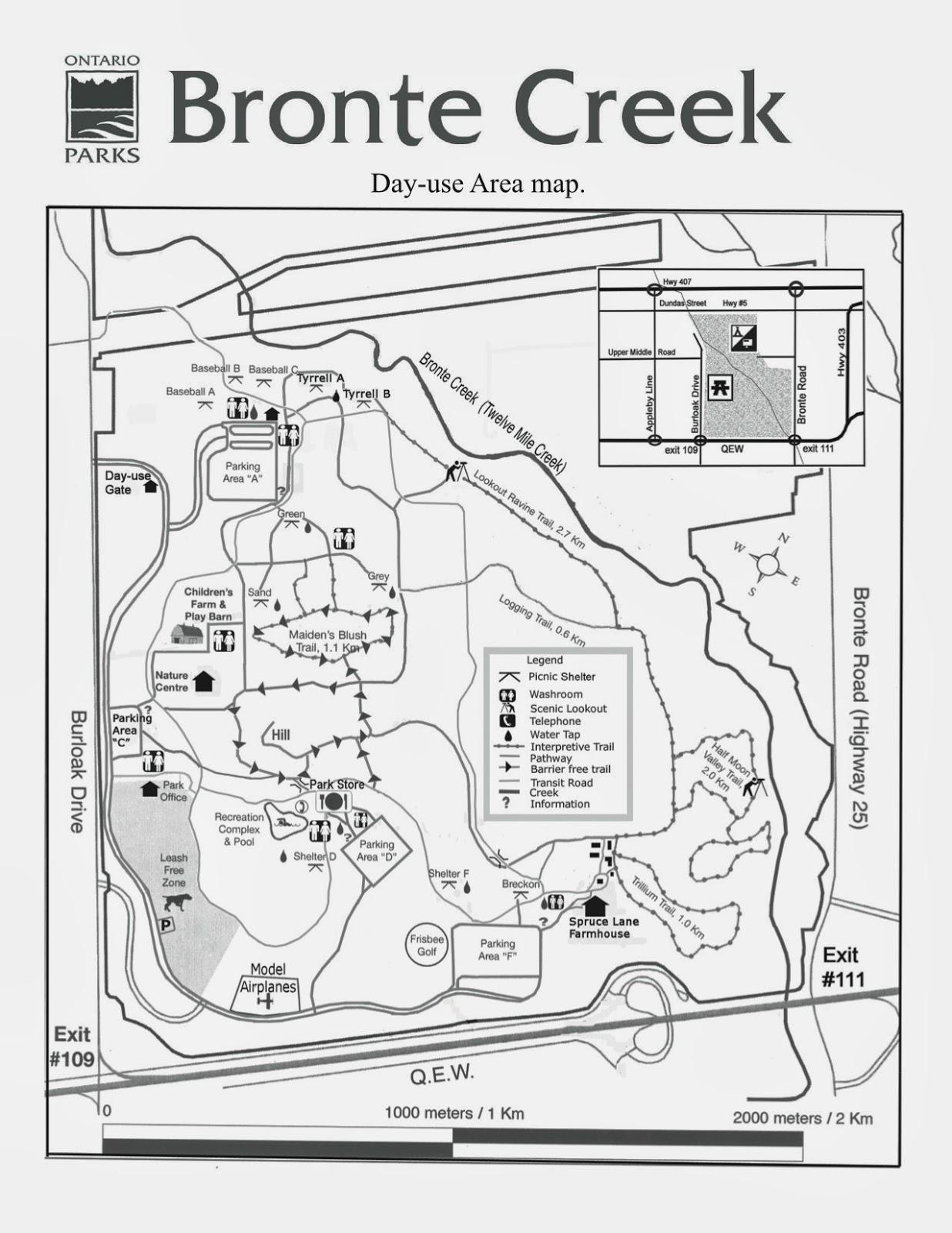 Bronte Creek Provincial Park Map Ontario Provincial Parks: Best Campsites and Reviews: Bronte Creek  Bronte Creek Provincial Park Map
