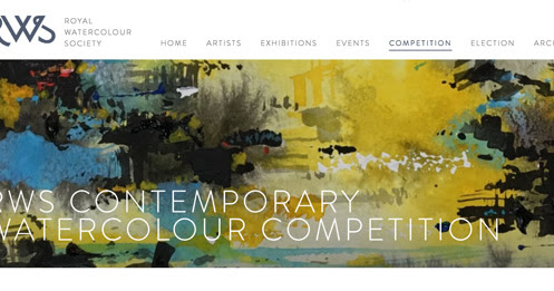 RWS Contemporary Watercolour Competition 2018 - Call for Entries