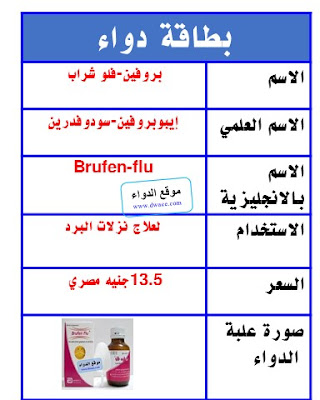 بروفين شراب Brufen-flu لنزلات البرد والانفلونزا