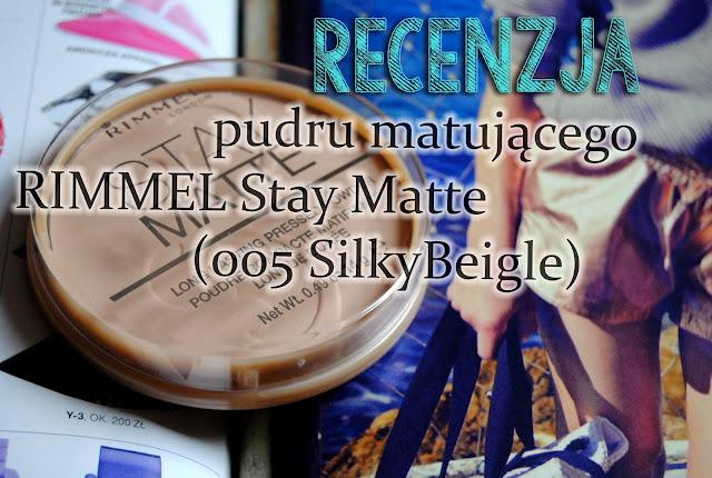 Puder Rimmel | Stay Matte 005 Silky Beige - recenzja