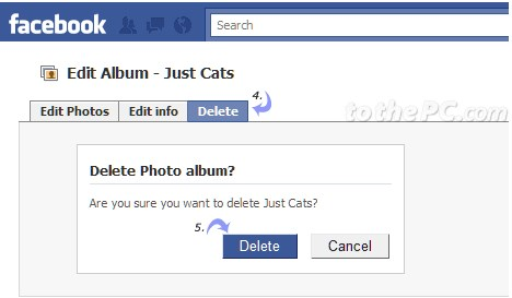 how to delete timeline album on facebook