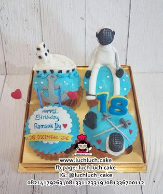 Cupcake Olahraga Anggar