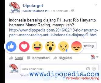 Ilustrasi Facebook Kekinian: Tombol Suka Lebih Ekspresif - Dipopedia