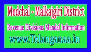 Medchal - Malkajgiri District Revenue Divisions Mandal Information