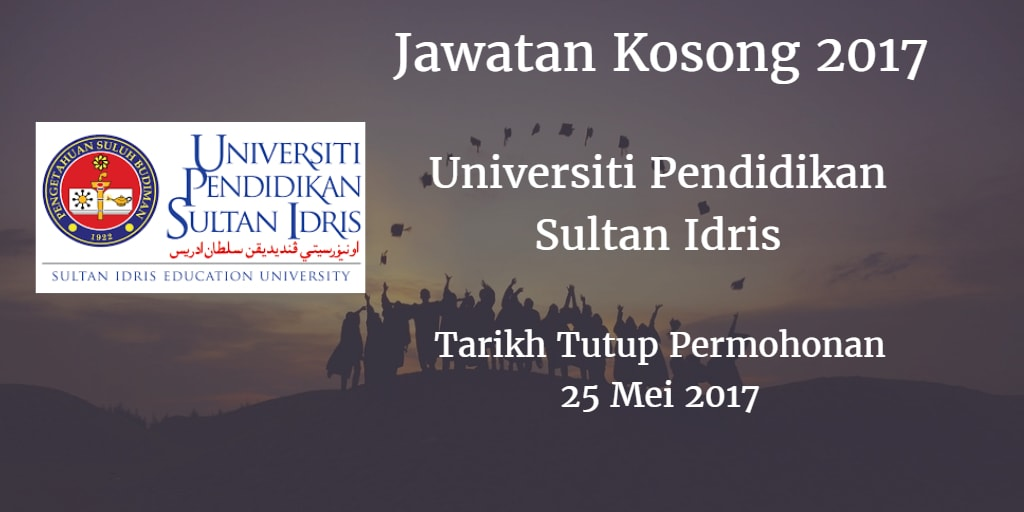 Jawatan Kosong UPSI 25 Mei 2017