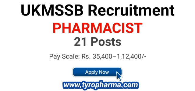 UKMSSB Recruitment 2018 - Apply 21 Pharmacist Posts @ukmssb.org