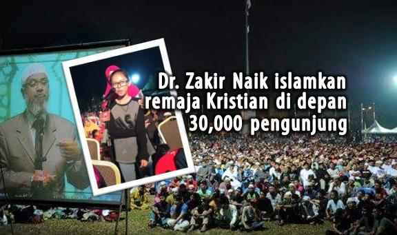 Remaja Kristian DiIslamkan Dr Zakir Naik Di Depan 30,000 Pengunjung
