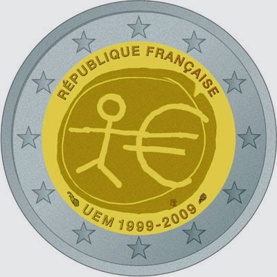 2 euro France 2009, Ten years of Economic and Monetary Union and the launch of the euro